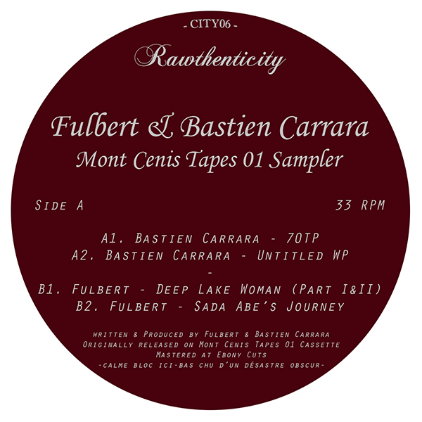 Fulbert/MONT CENIS TAPES 01 SAMPLER 12""