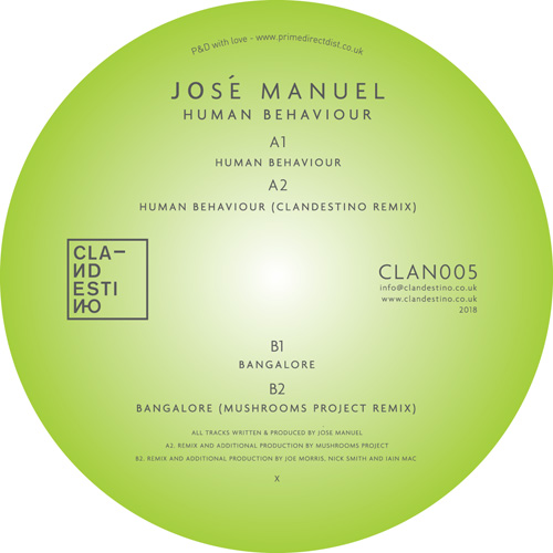 Jose Manuel/HUMAN BEHAVIOUR 12""