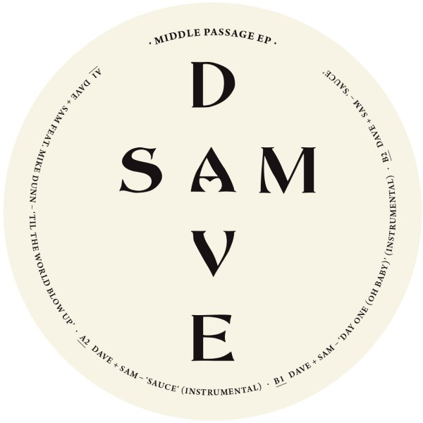 Dave + Sam/MIDDLE PASSAGE EP 12""