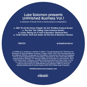 Various/LUKE SOLOMON'S UNFINISHED.. 12""