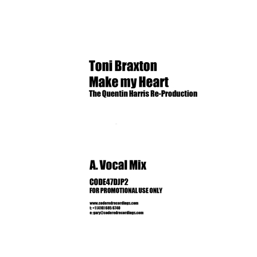 Toni Braxton/MAKE MY HEART REMIX 12""