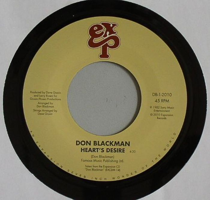"Don Blackman/HEARTS DESIRE & HOLDING 7"""