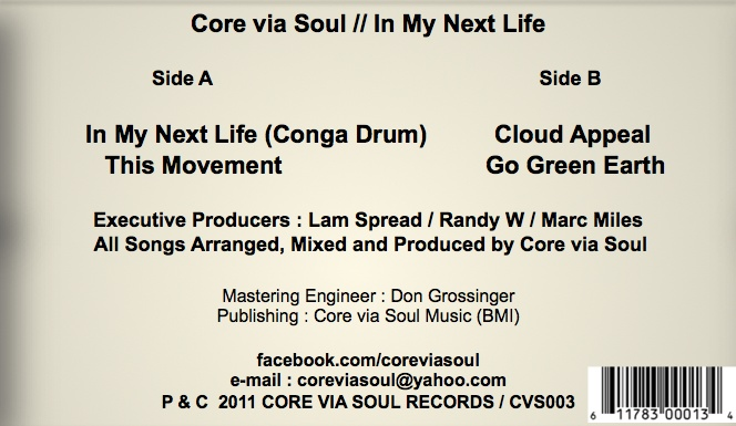 Core Via Soul/IN MY NEXT LIFE EP 12""