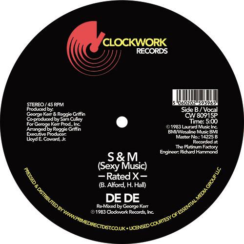 """De De/S&M (SEXY MUSIC) 12"""""""