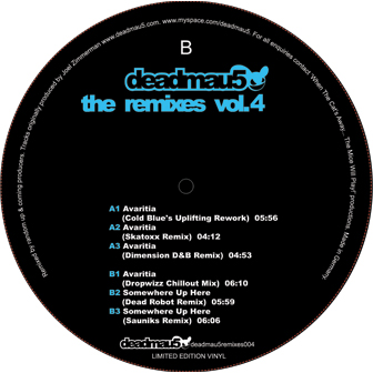 Deadmau5/AVARITIA REMIXES (VOL 4) 12""