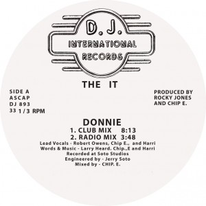 The It/DONNIE (INC. RON HARDY MIX) 12""