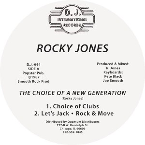 Rocky Jones/CHOICE OF A GENERATION 12""