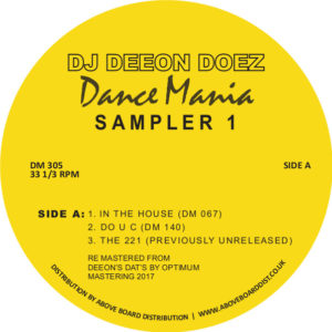 DJ Deeon/DOEZ DANCE MANIA SAMPLER 1 12""