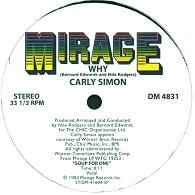Carly Simon/WHY & INSTRUMENTAL 12""