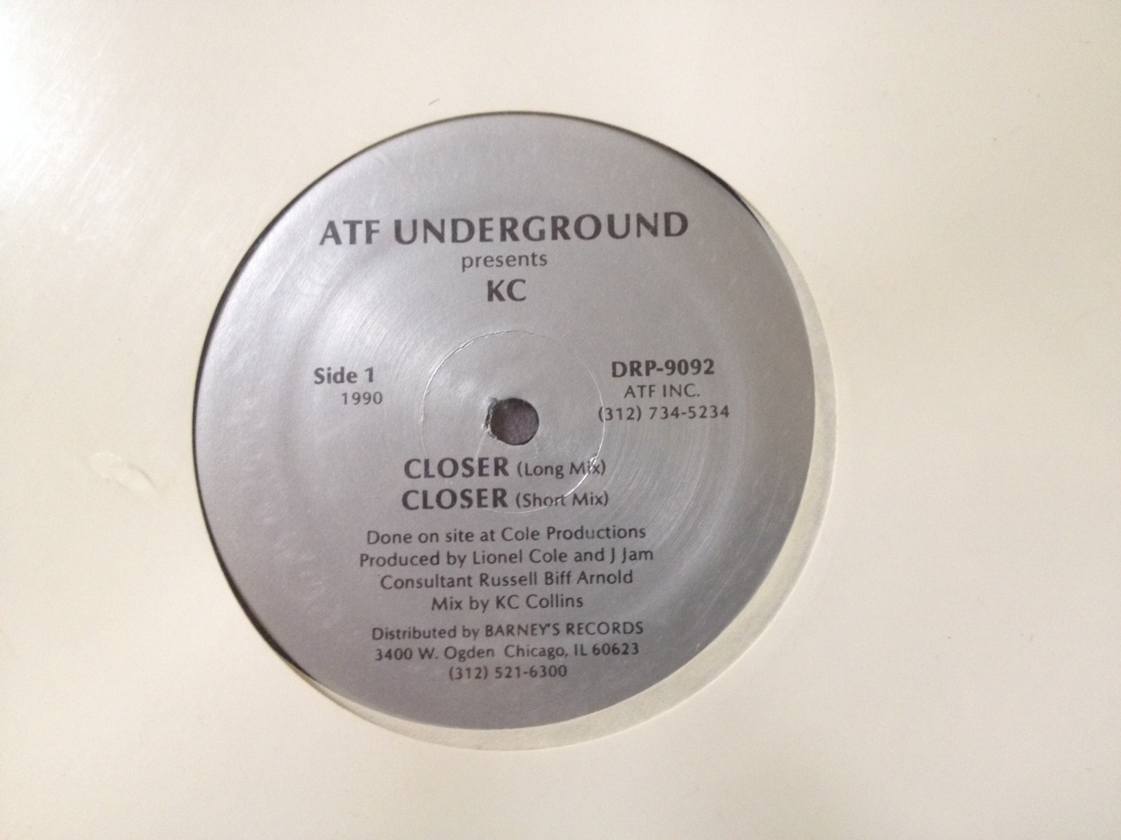DJ Kevin C./CLOSER 12""