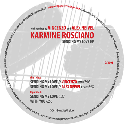 "Karmine Rosciano/SENDING MY LOVE 12"""