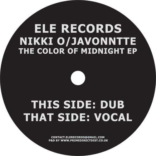 Nikki O & Javonntte/THE COLOR... EP 12""