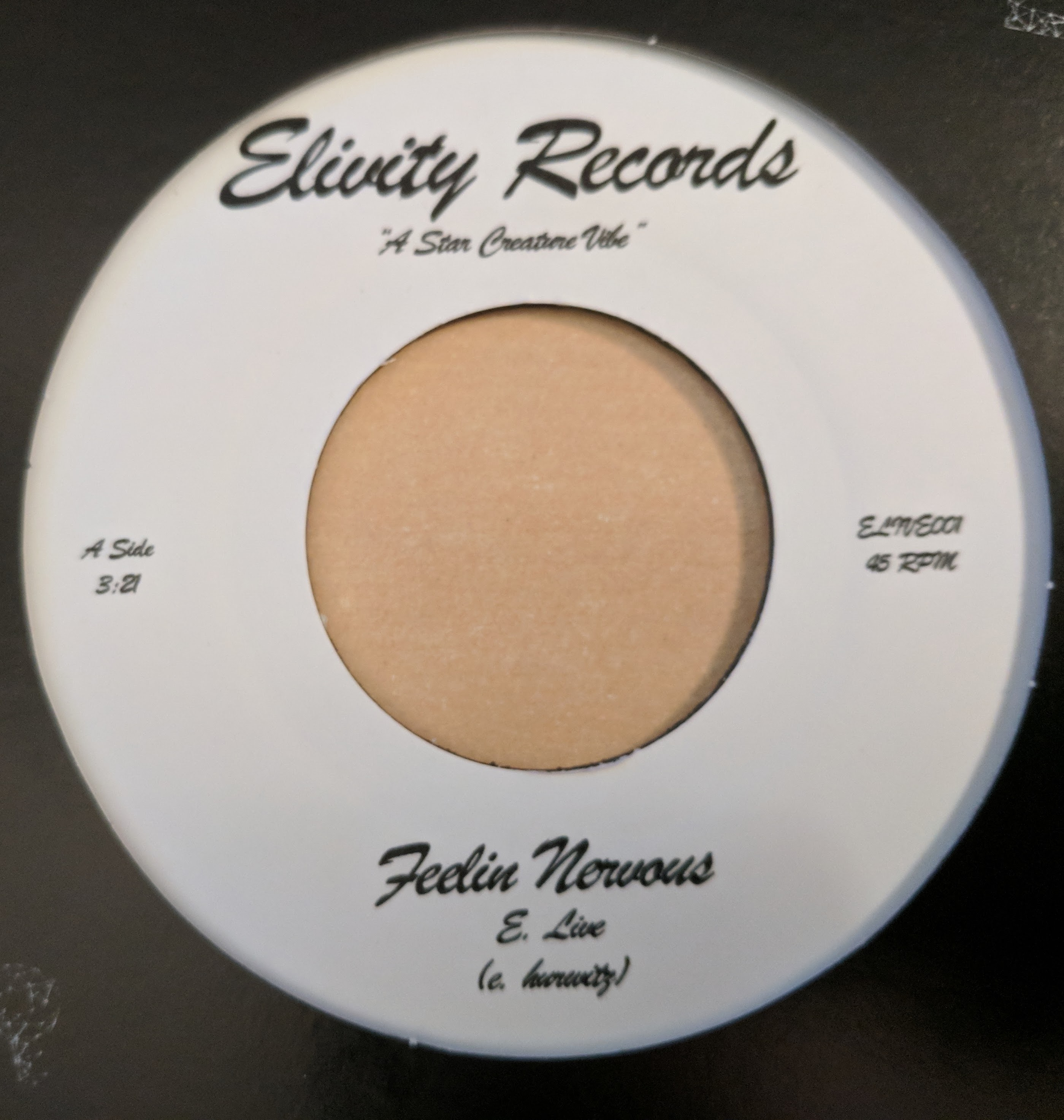 E. Live/FEELIN NERVOUS+FEELIN YOU UP 7""