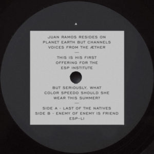Juan Ramos/LAST OF THE NATIVES 12""