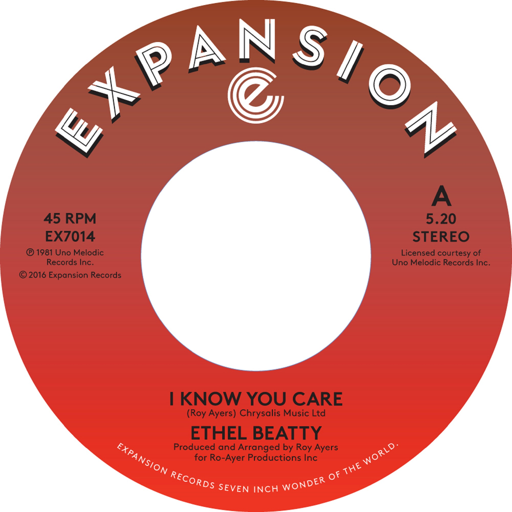 Ethel Beatty/ I KNOW YOU CARE 7""