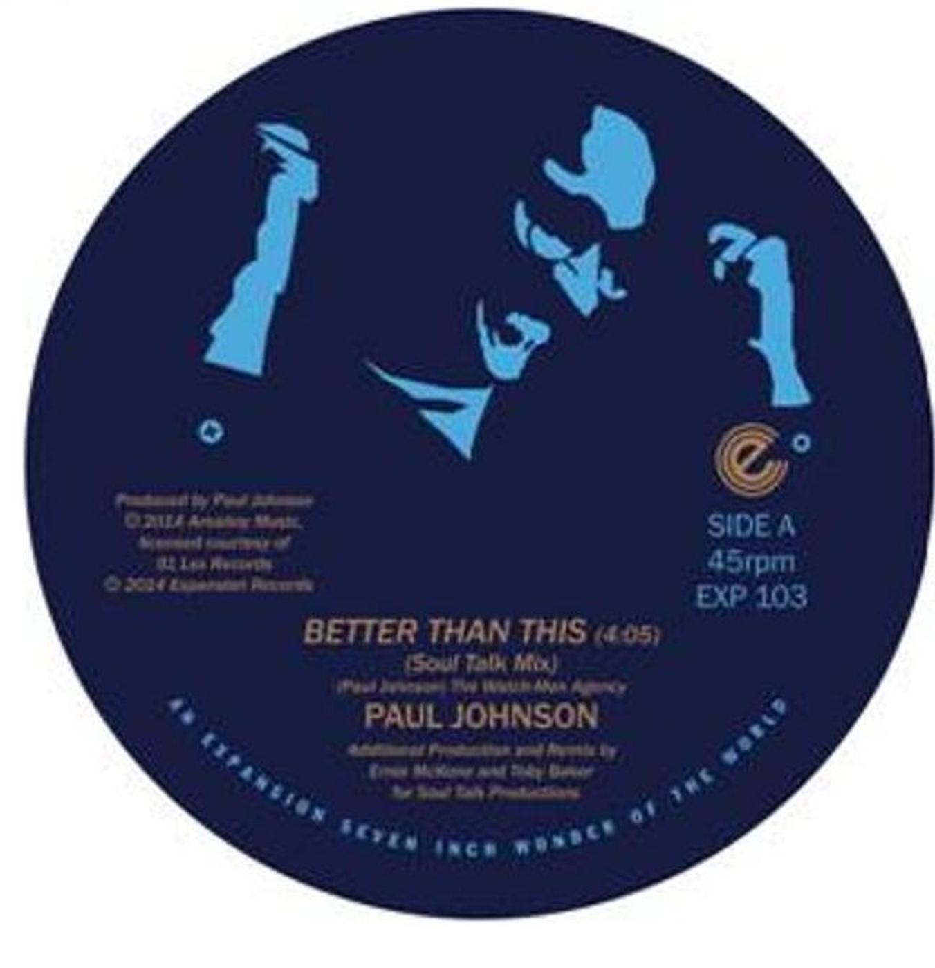 Paul Johnson/BETTER THAN(DEGO & KAIDI)7""