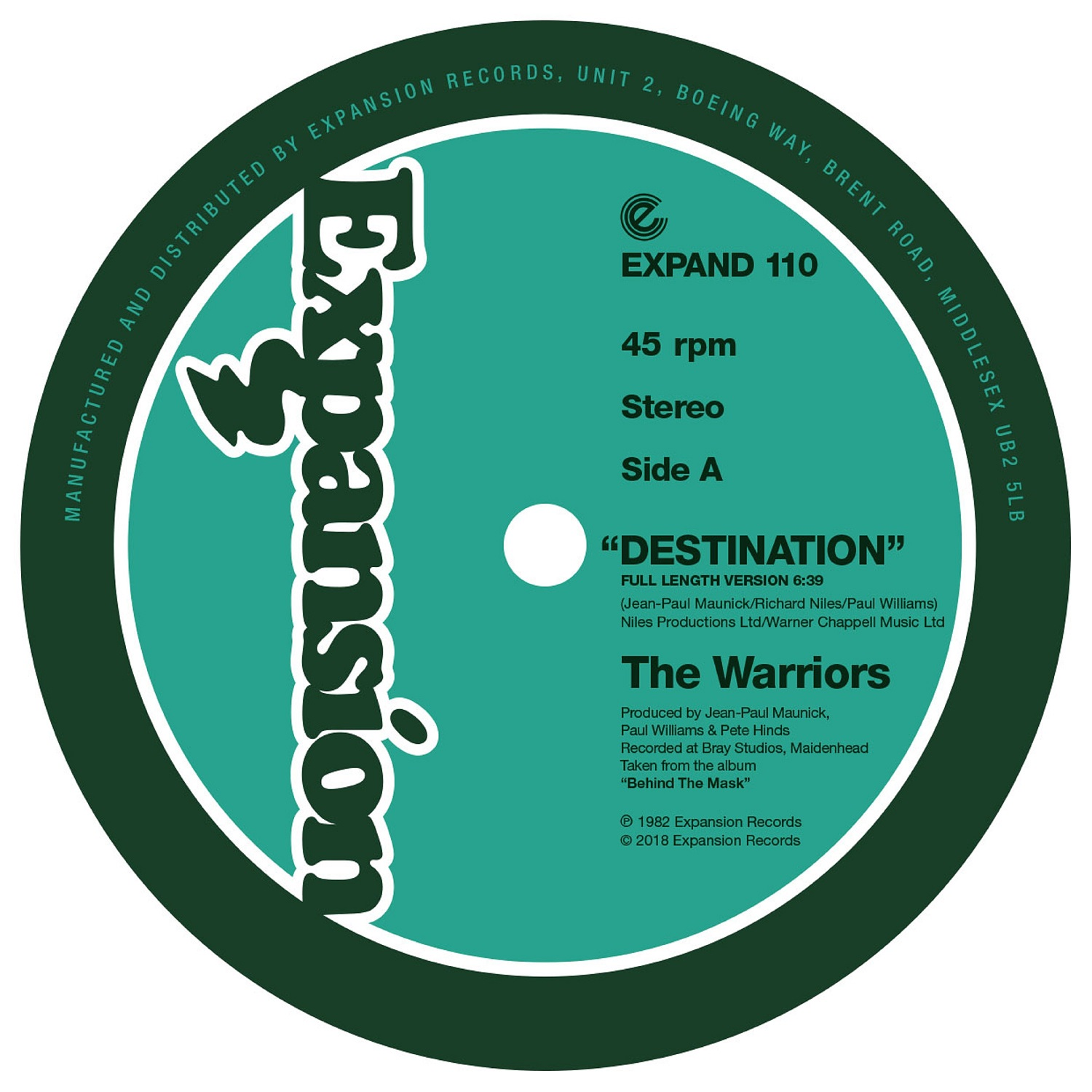 Warriors/DESTINATION & RE EDIT 12""