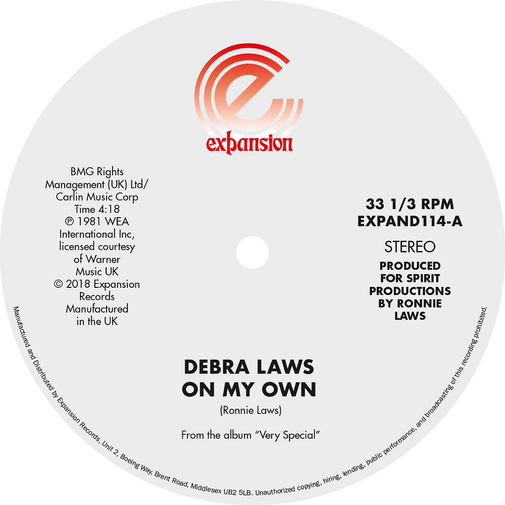 Debra Laws/ON MY OWN & VERY SPECIAL 12""