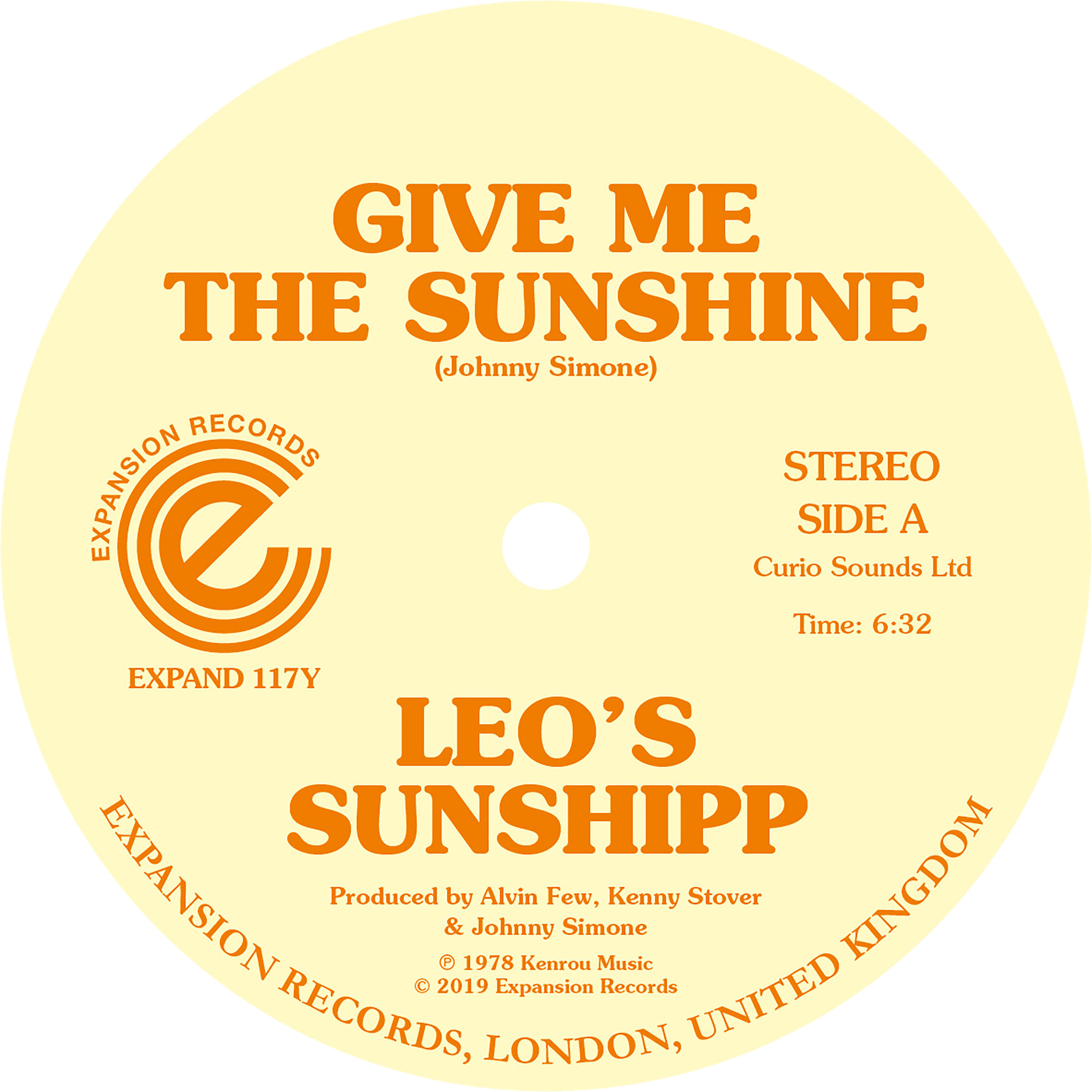 Leo's Sunshipp/GIVE ME THE SUNSHINE 12""