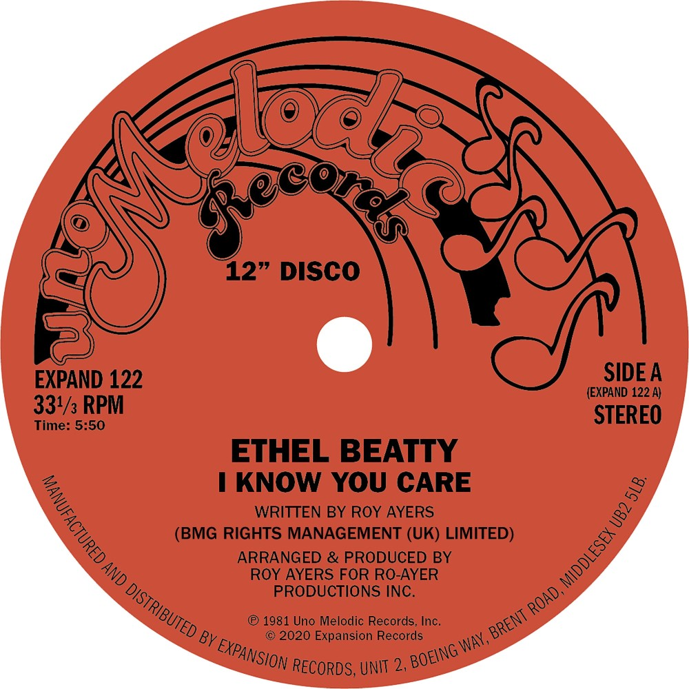Ethel Beatty/I KNOW YOU CARE 12""