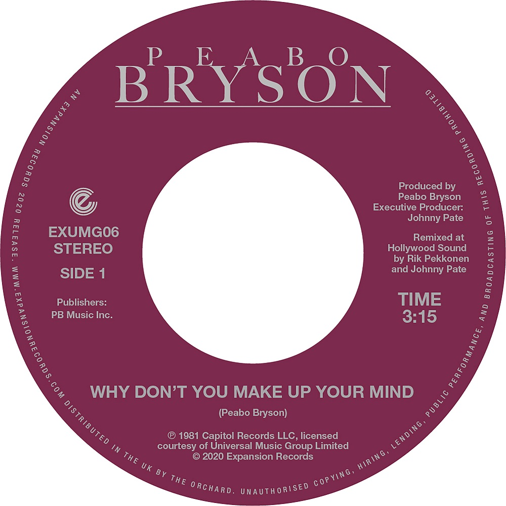 Peabo Bryson/WHY DON'T YOU MAKE UP 7""
