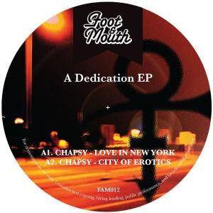 "Various/A DEDICATION EP 12"""