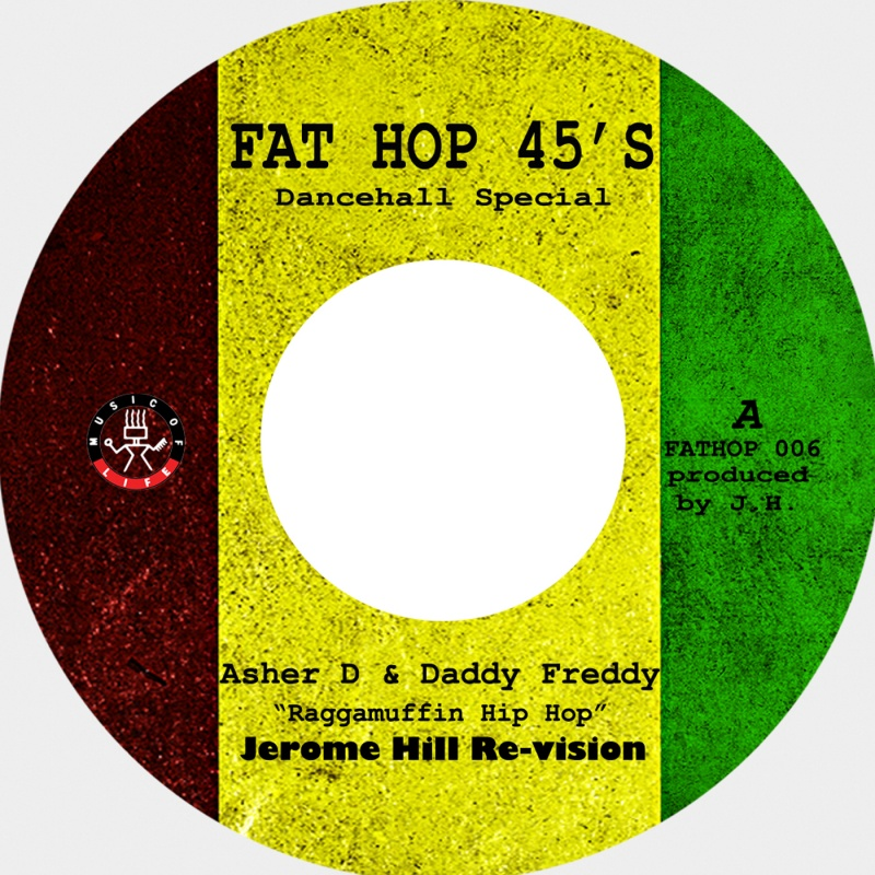 Asher D & Daddy Freddy/MUFFIN HIP HOP 7""