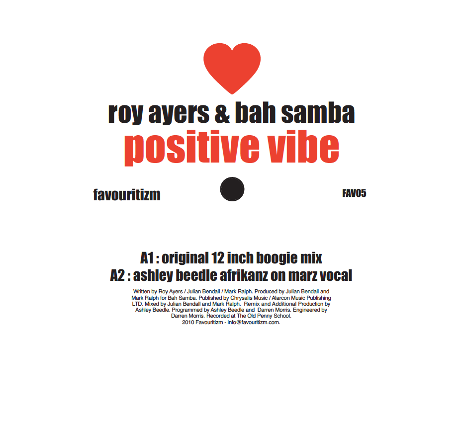 "Roy Ayers & Bah Samba/POSITIVE VIBE 12"""