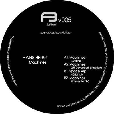 "Hans Berg/MACHINES EP 12"""