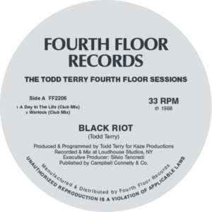 Todd Terry/FOURTH FLOOR SESSIONS 12""