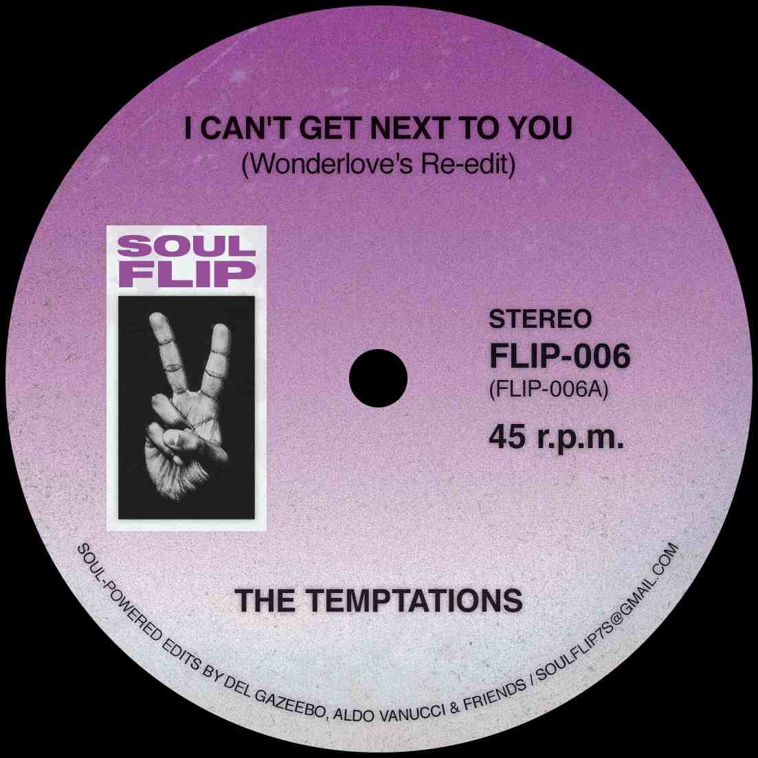 Temptations/CAN'T GET NEXT TO YOU RMX 7""