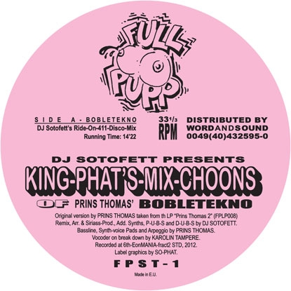 Prins Thomas/BOBLETEKNO PART ONE 12""