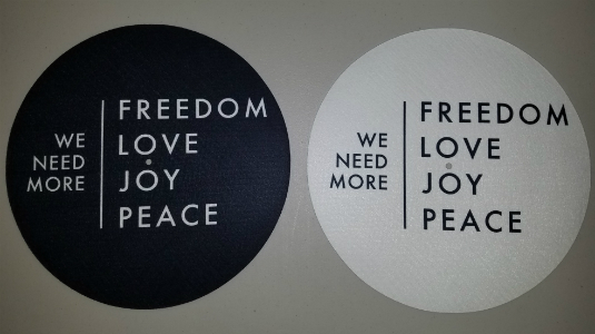 Freedom Love Joy Peace/SLIPMATS (PAIR)