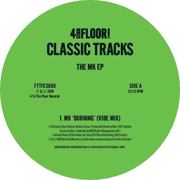 MK/4 TO THE FLOOR CLASSIC TRACKS EP 12""