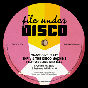 JKriv/CAN'T GIVE IT UP 12""
