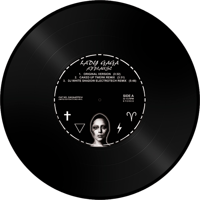 """Lady Gaga/APPLAUSE (ETCHED VINYL) 12"""""""