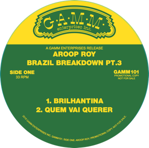 Aroop Roy/BRAZIL BREAKDOWN PT. 3 12""