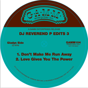 "DJ Reverend P/EDITS PT.3 12"""