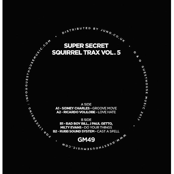Various/SECRET SQUIRREL TRAX VOL 5 12""