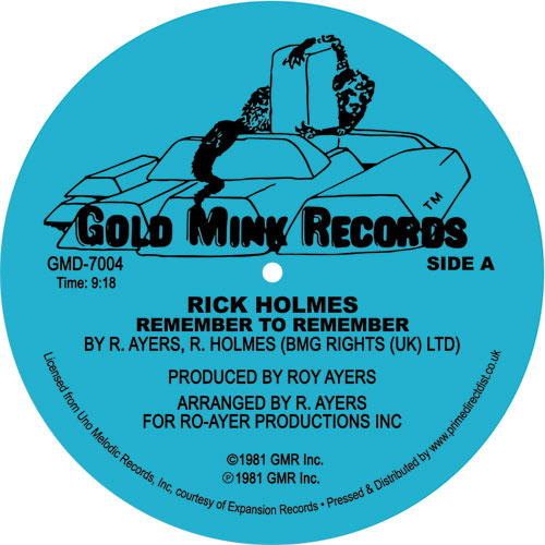 """Rick Holmes/REMEMBER TO REMEMBER 12"""""""
