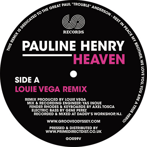 "Pauline Henry/HEAVEN (LOUIE VEGA RX) 12"""