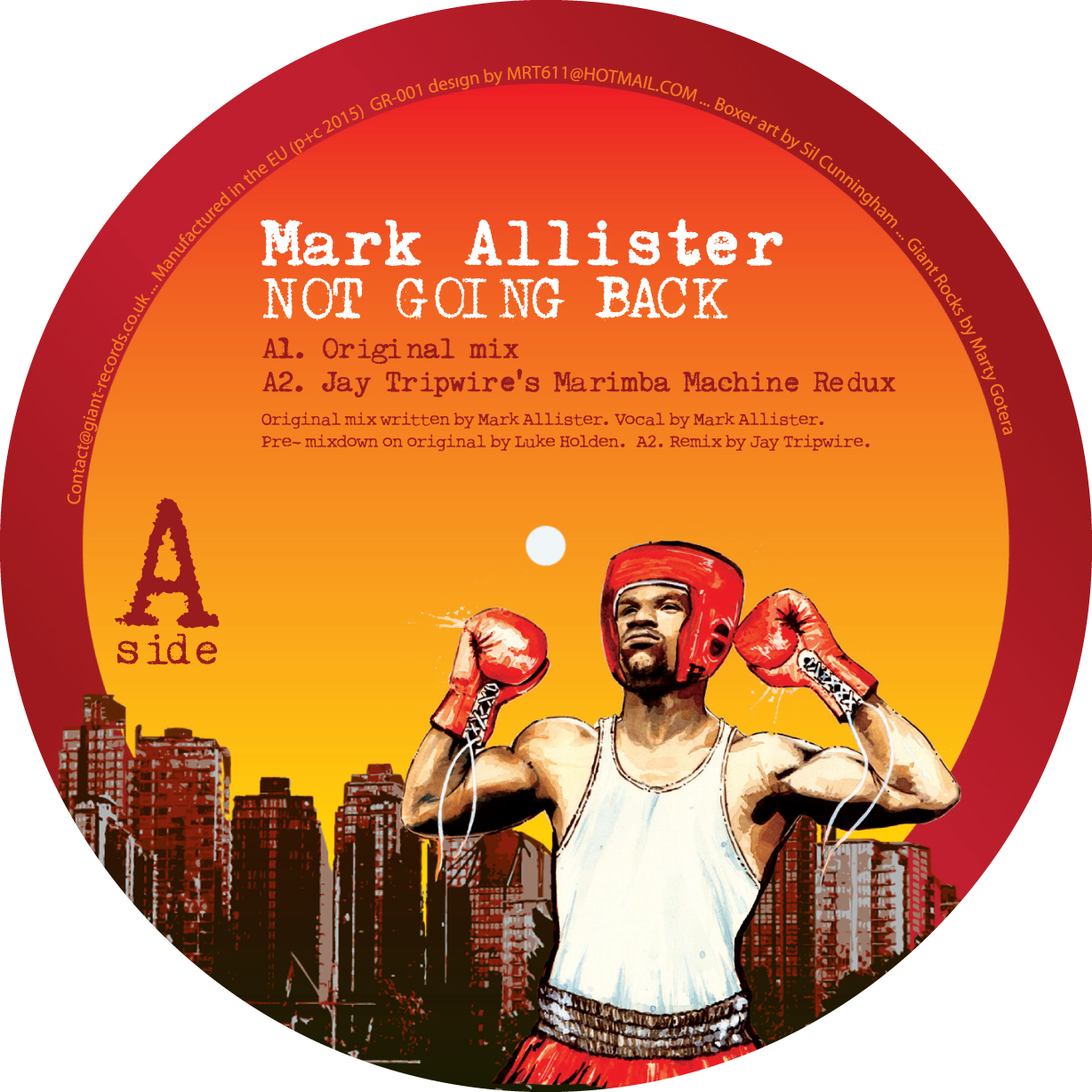 Mark Allister/NOT GOING BACK EP 12""