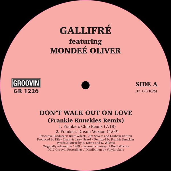 Gallifre/DON'T WALK OUT ON LOVE 12""