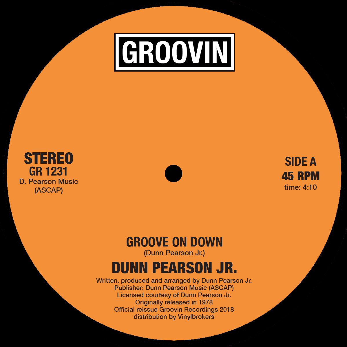 Dunn Pearson Jr./GROOVE ON DOWN 12""