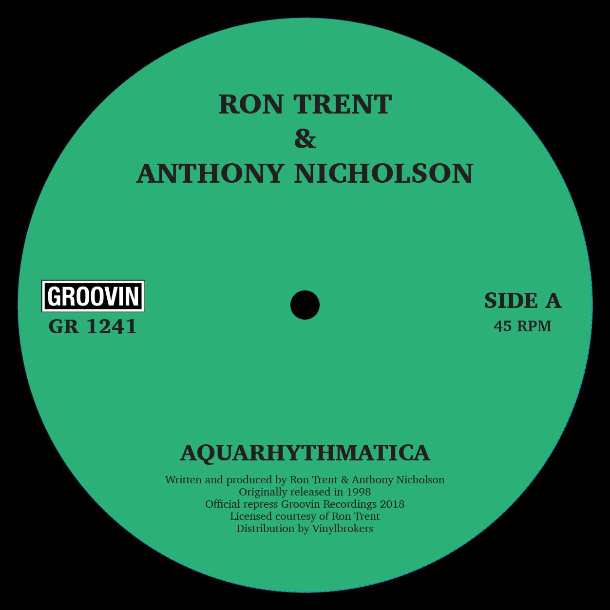 "Ron Trent/AQUARHYTHMATICA 12"""