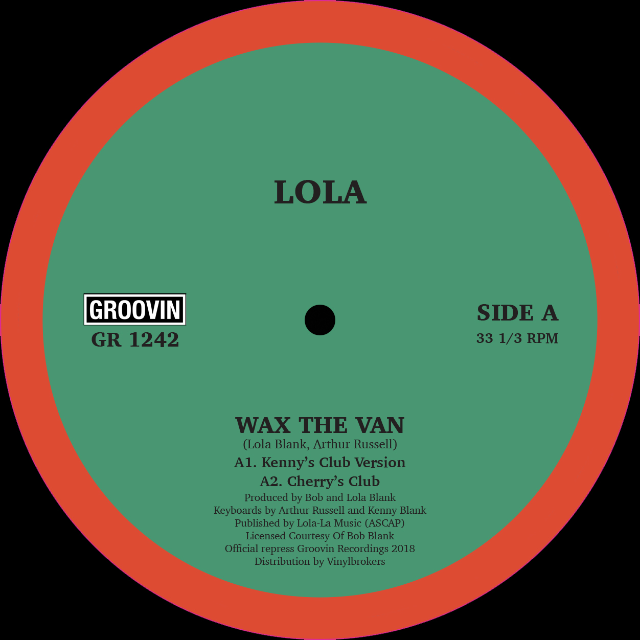 Lola/WAX THE VAN 12""