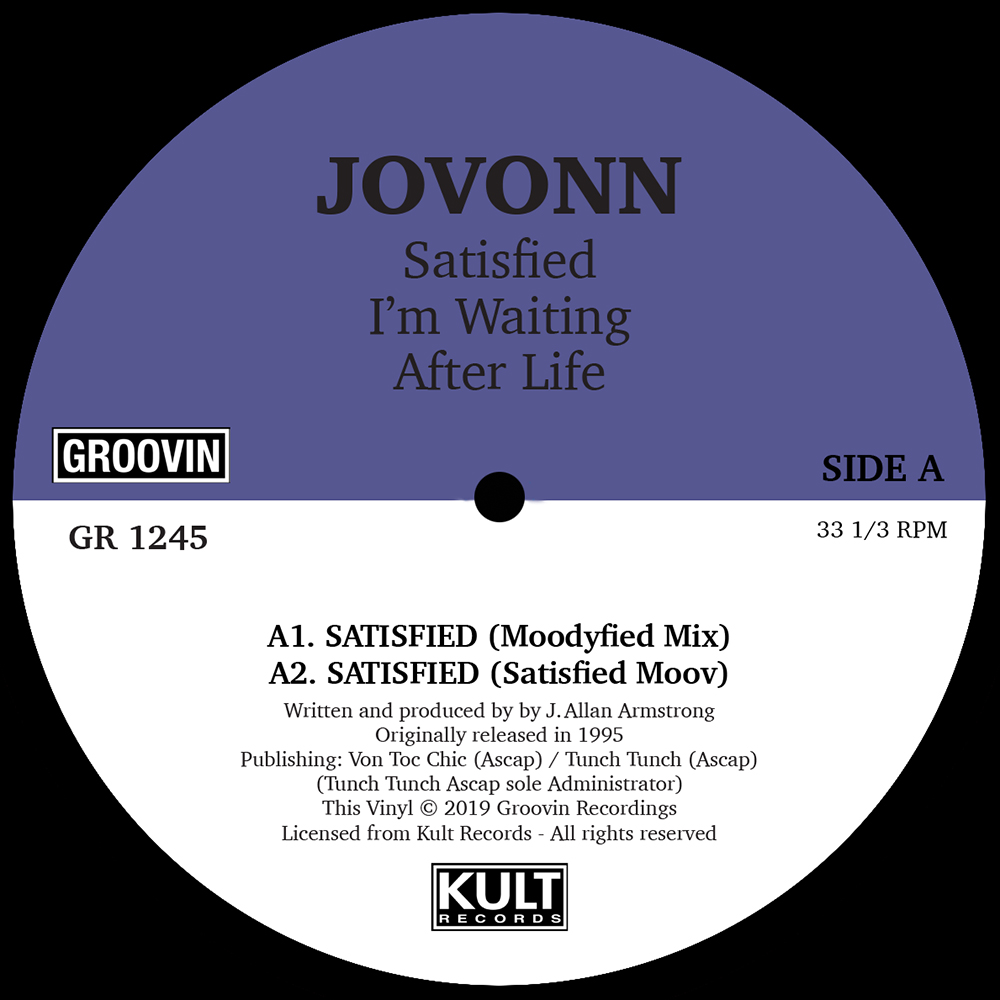"Jovonn/SATISFIED 12"""