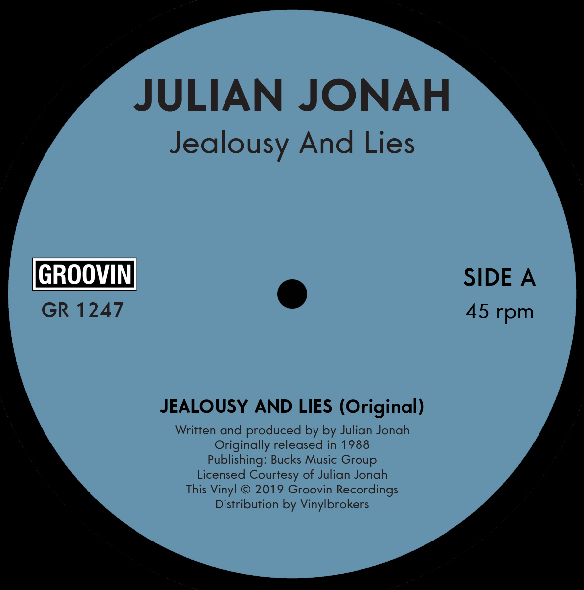 Julian Jonah/JEALOUSY AND LIES 12""