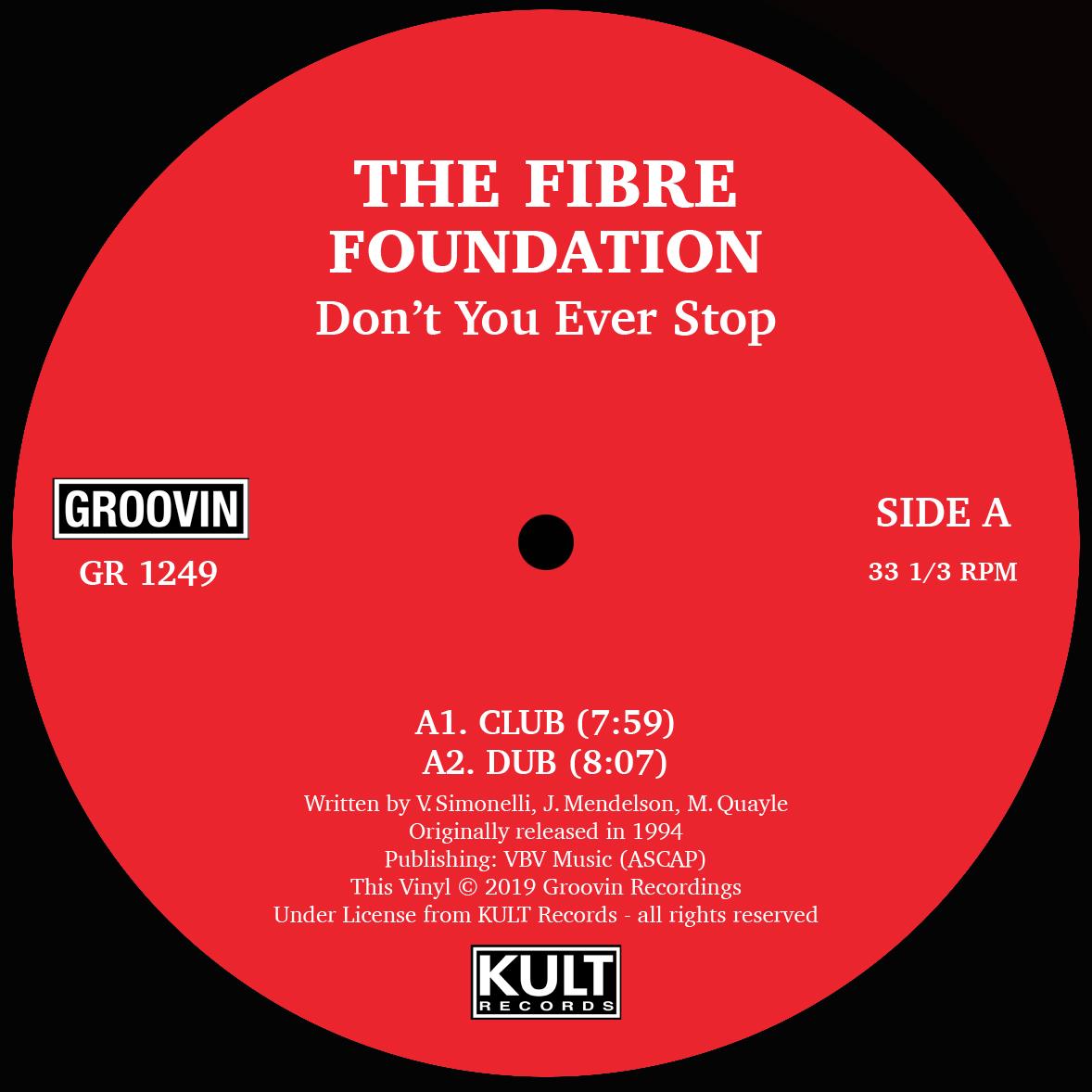 """Fibre Foundation/DON'T YOU EVER STOP 12"""""""