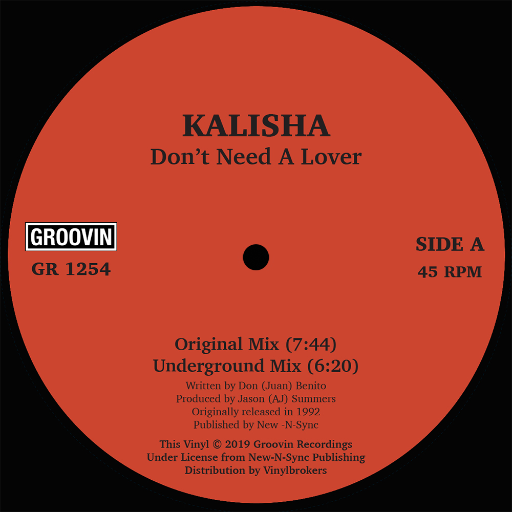Kalisha/DON'T NEED A LOVER 12""